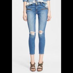 CURRENT/ELLIOTT 'The Stiletto Biker' Skinny Jeans
